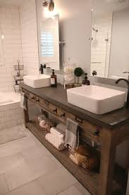 Best Bath Decor bathroom vanities restoration hardware : Bath & Shower: Remarkable Beautiful Twin White Sink And Brown ...
