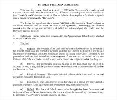 Free Loan Agreement Loan Contract Template 100 Examples in Word PDF Free Premium 15