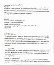 Nanny Resume Extraordinary Professional Nanny Resume 60Z 60 Nanny Resume Templates Pdf Doc