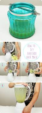 how to diy avocado hair mask