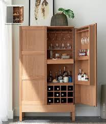 Industrial Bar Cabinet Crate And Barrel Clive Bar Cabinet Best Home Furniture Decoration