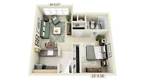 #5) Kevin's Triple Threat: Kevin's studio separates the bedroom from the  living area with a hanging