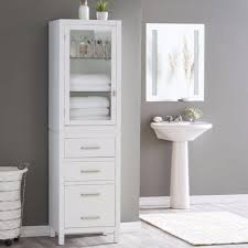 tall corner bathroom cabinet. Bathroom : Tall Corner Storage Cabinet Narrow Linen Stand Tower Drawers White New C0632cec99206548d1cb0c84c54c4af0 L