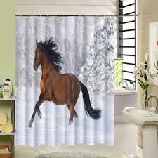 shower curtain shower environmentally friendly. 2016 Rideau De Douche New Waterproof Horse Shower Curtain Eco-friendly Washable Bath With Rings For Home Decor Drop Shipping Environmentally Friendly A