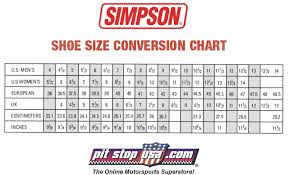 Racing Shoe Size Chart Metric Tire Size To Inches Chart For Sizing In Comparison