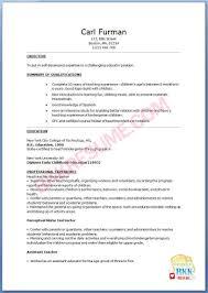 Kindergarten Teacher Resume Resume For Kindergarten Teachers With Early Childhood Teacher Resume