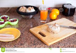 kitchen table with food. Fresh Food At The Kitchen Table With O
