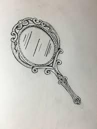 hand mirror sketch. Vintage Hand Mirror By Katrinamber On DeviantArt Sketch