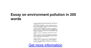 essay on environment pollution in words google docs