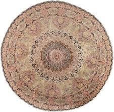 round silk vintage tabriz persian rug 51137 nazmiyal