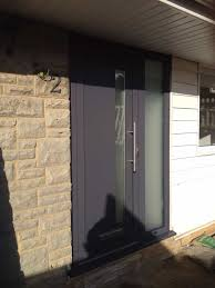 double glazing grey aluminium front door in reigate dorking glass