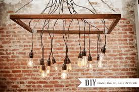 diy hanging edison light bulbs