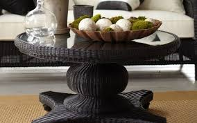 pedestal wood black antique unfinished oak table round accent small distressed remarkable end tables large tall