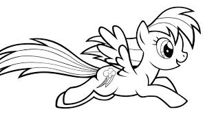 Rainbow Dash Coloring Pages Free Pony Coloring Pages Rainbow Dash