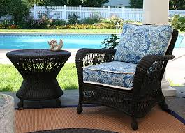 image black wicker outdoor furniture. Black Saratoga Wicker Arm Chair And Side Table Image Outdoor Furniture