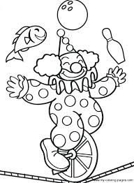 coloring pages printable clown coloring pages free circus e book plus on col