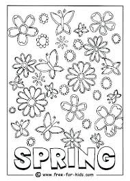 Free Spring Coloring Sheets Printable Spring Coloring Pictures Free