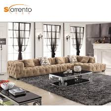 Button Sofa Design Hot Item Latest Living Room Leisure Sofa Set American Middle East Style Velvet Couch Corner Button Trufted Sofa