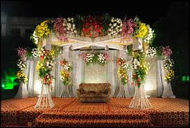 Wedding Flowers Decoration Indore Events Management Beautiful Flower Stage Indore