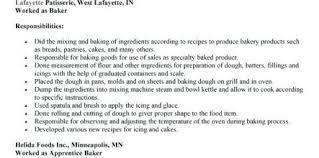 Baker Resume Sample 35135 Gahospital Pricecheck