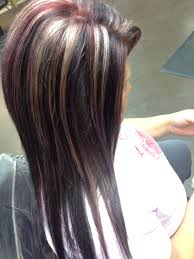Blonde Highlights Red Lowlights Brown Base