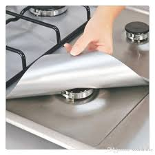 2019 reusable silver range protector aluminum foil gas stove burner cover protectors liner clean mat pad from szxhshirley 6 64 dhgate com