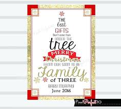 Baby Announcement Christmas Cards Fadetoblack