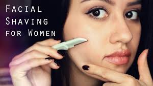 Women facial hair removal shave