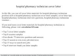 Cover Letter For Pharmacy Tech Tech Cover Letter Examples Cover