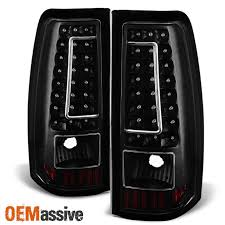 2003 2006 chevy silverado gmc sierra 1500 2500 3500 led black tail lights lamps