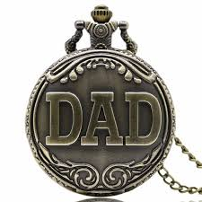 deffrun dad pattern antique bronze quartz pocket watch with necklace men fob pendant watches cod