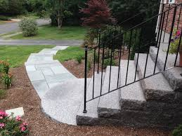 front door stepsEntrances and Steps Landscaping in MA  Natural Path Landscaping