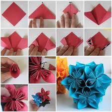 How To Make A Beautiful Flower With Paper How To Make Beautiful Origami Kusudama Flowers
