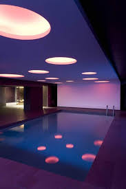 indoor swimming pool lighting. Home Design And Decor , Decorating Your Indoor Swimming Pool : Modern Lighting