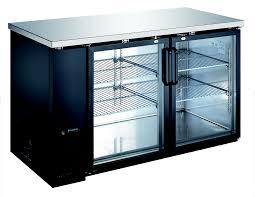 u star usbb 5928g 59 wide glass door back bar cooler