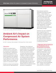 Air Compressor Room Design Ambient Air S Impact On Compressed Air System