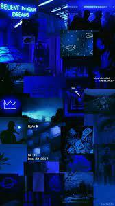Aesthetic Wallpaper Dark Blue