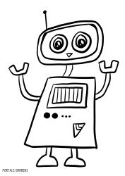 Disegni Di Robot Da Colorare Per Bambini Portale Bambini