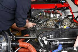 an engine being secured with motor mounts