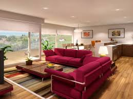 modern red sofa bed design ideas with stripes rug and rectangular coffee table in beautiful living beautiful living rooms living room