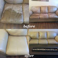how to paint leather furniture.  Furniture Camel Tan Leather Furniture Restoration Before And After U201c Intended How To Paint Leather Furniture I