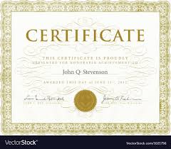 Formal Certificate Template Royalty Free Vector Image