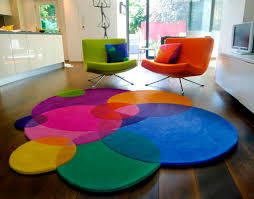 colorful round rugs contemporary handmade wool patterned ideal