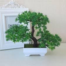 office bonsai. Interesting Office Bonsai Tree Pot Artificial Plant Decoration Green Home Office Desk  Windowsill Inside O