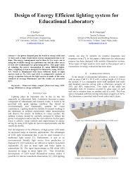 Energy Efficient Lighting Design Pdf Design Of Energy Efficient Lighting System For