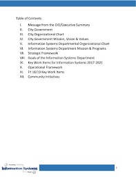 Information System Department Organizational Chart Is Dept Strategic Plannov18 Pages 1 18 Text Version