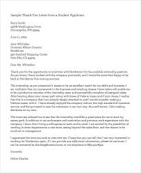 Professional Thank You Letter for JOB Interview