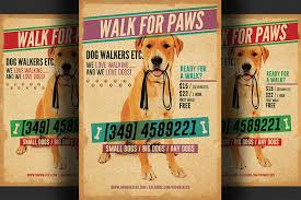 Dog Walkers Flyer Template ~ Flyer Templates on Creative Market Dog Walkers Flyer Template 2