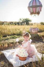 smash cake baby pictures first birthday pictures hot air balloon photo prop hot
