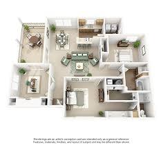 apartment 3 bedroom. cooper creek apartments plan e (2 bd + den) apartment 3 bedroom a